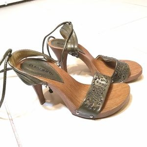 Classified Olive Green Lace Up Heels
